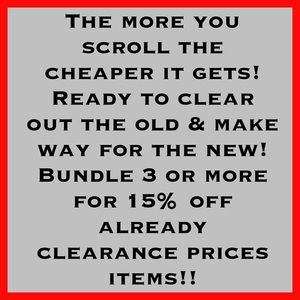 Closet Clearout! Serious Sale!